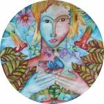 Summer Garden Spirit. Original art by Jennifer O'Neill Pickering.